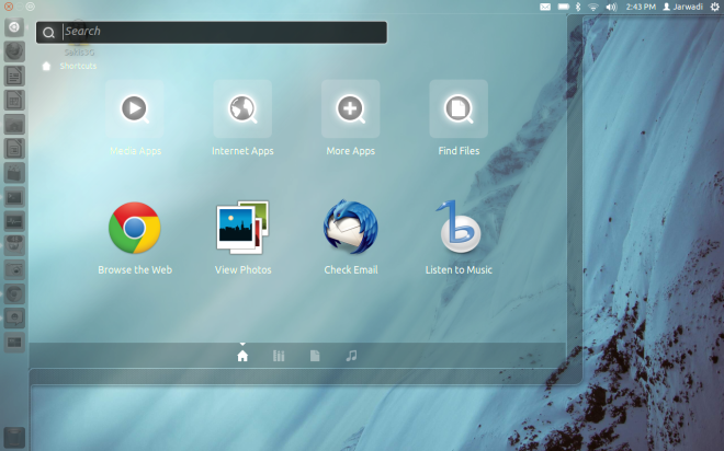 Search Box On Ubuntu 11.10 Oneiric Ocelot