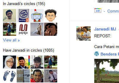1000+ circled on google+