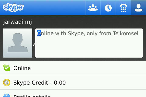 Skype Telkomsel Mobile Apps on Blackberry