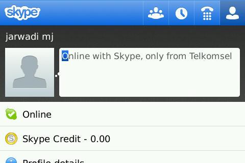 Skype Telkomsel Mobile Apps on Blackberry