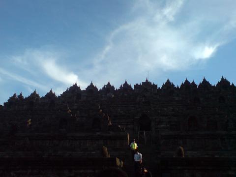 Borobudur temple Landscape