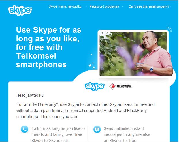 Skype Telkomsel Promo
