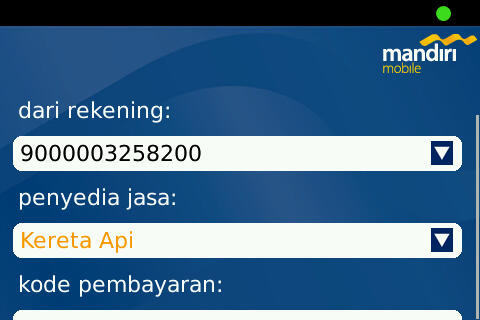 Train Payment on Mandiri Mobile Apps