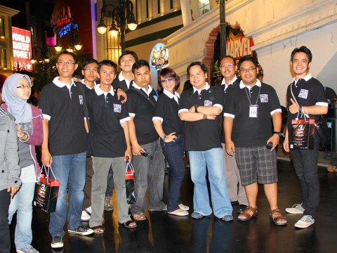 Telkomsel Blackberry Community 3rd Anniversari. Picture was taken at Trans Studio Bandung