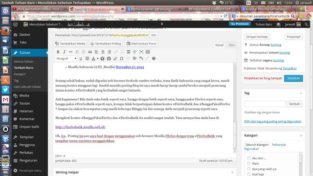 blogging dari jendela #FirefoxBatik