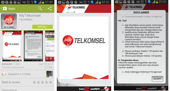 Instalasi My Telkomsel Apps