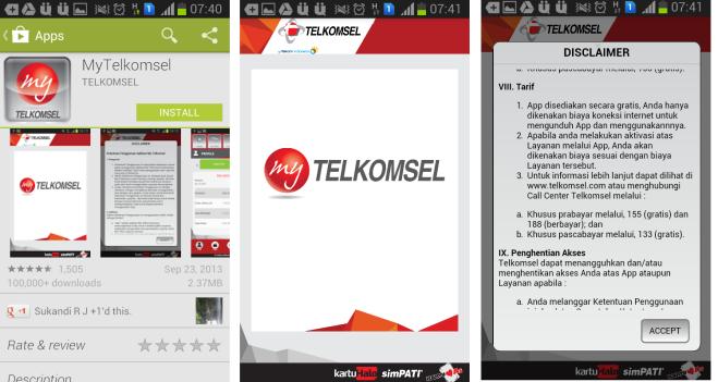 Instalasi My Telkomsel Apps