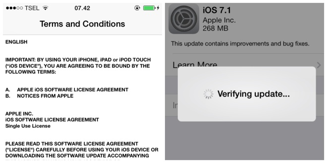 update to iOS 7.1
