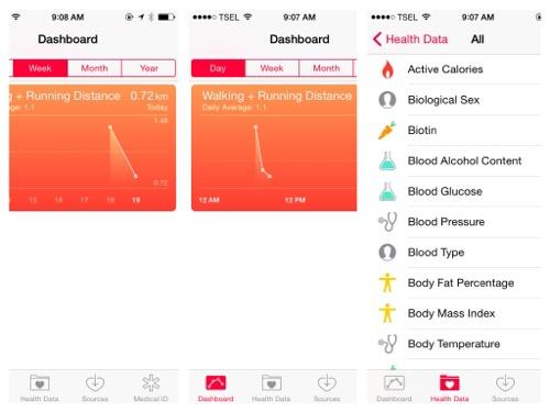 Health App di iOS 8