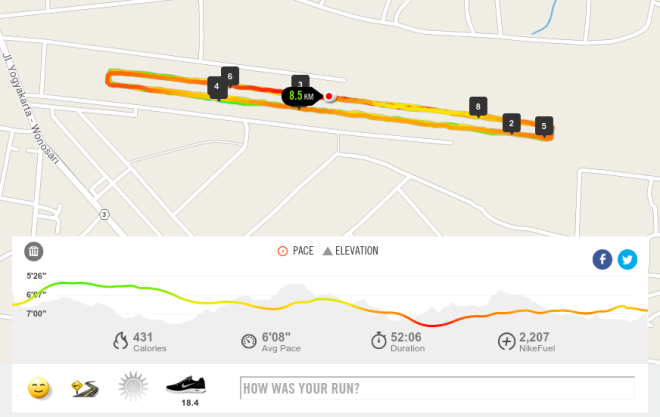 Running Track di Bandara TNI AU Gading