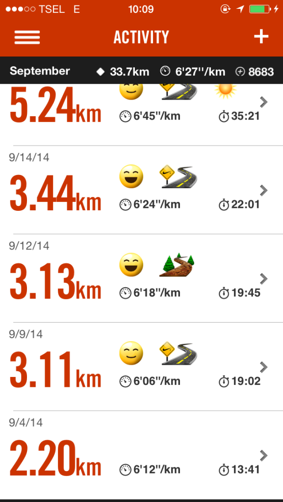 Nike Running Plus : Running Log