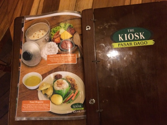Buku Menu di The KiosK Dago