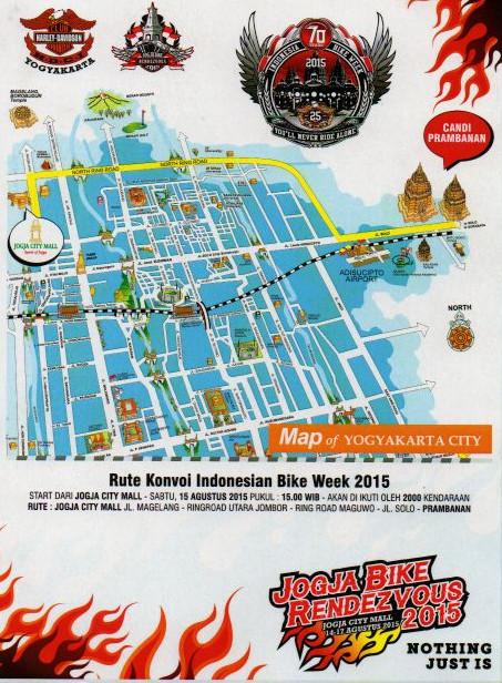 Rute Konvoi HDCI Jogja Bike Rendezvous 2015