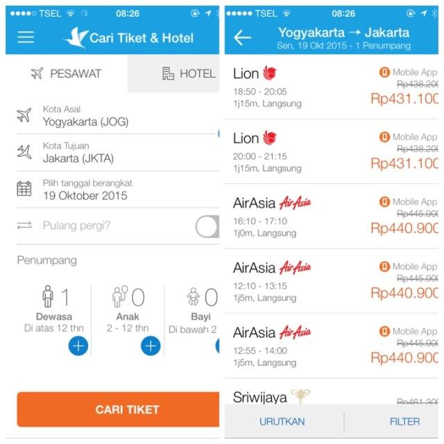 Traveloka Aplikasi Tiket Pesawat Dan Hotel Booking Terbaik Gadget Running Travelling Light