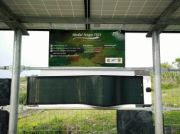 Display Solar Panel di Baron Techno Park