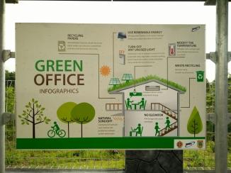 Green Office Poster di Baron Techno Park