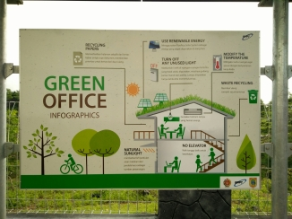 Green Office Poster di Baron Techno Park