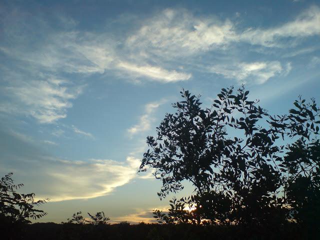 sunset di puncak bukit sodong