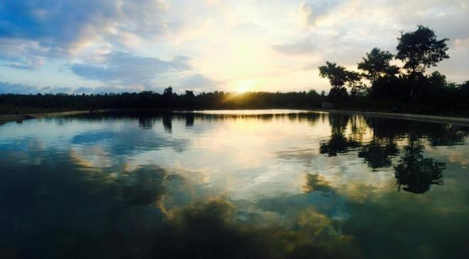 sunset telaga tong tong trukan karang asem paliyan
