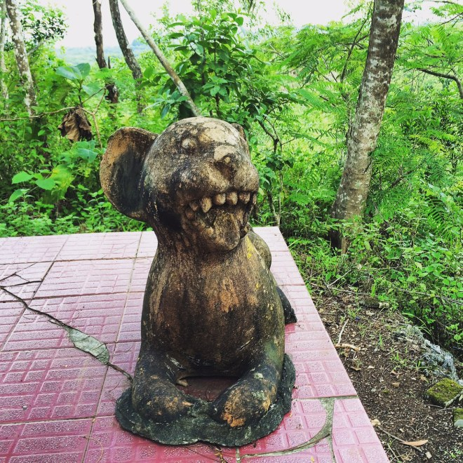 Patung di Petilasan Gunung Bagus, Desa Giring, Kecamatan Paliyan, Gunungkidul
