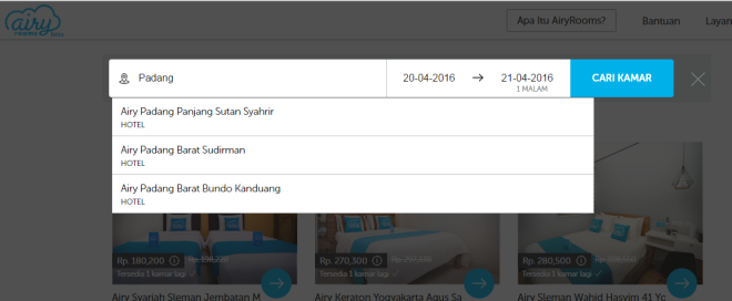 Booking Hotel Murah di Hotel Airyrooms