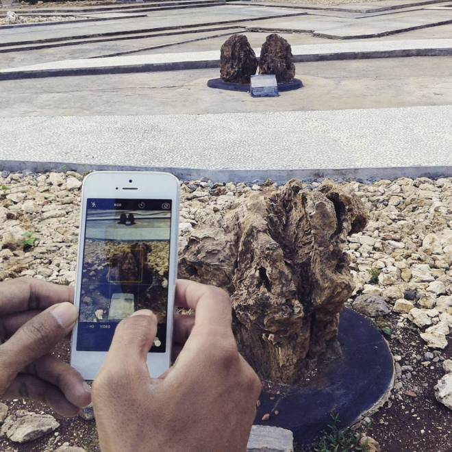 memotret taman batu mulo global geopark gunung sewu