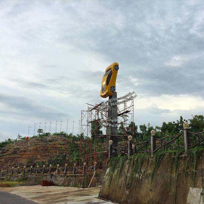 Mobil Listrik di Menara Teknopark Panggang Gunungkidul