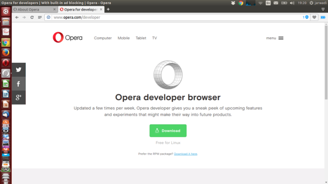 Opera Developer 39 Download Website