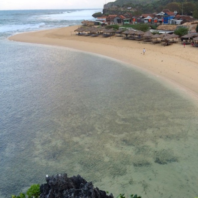 Pantai Drini Gunungkidul, foto diambil 2 Ramadan yang lalu