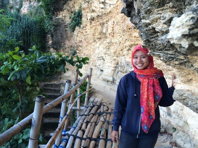 Menyebrangi Jembatan Bambu Menuju Bukit Tanjung - Pok Tunggal - Gunungkidul
