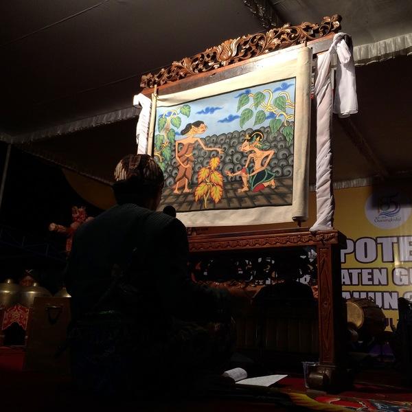 Pentas Wayang Beber Dengan Lakon Andhe Andhe Lumut di Pameran Potensi Daerah Gunungkidul 2016