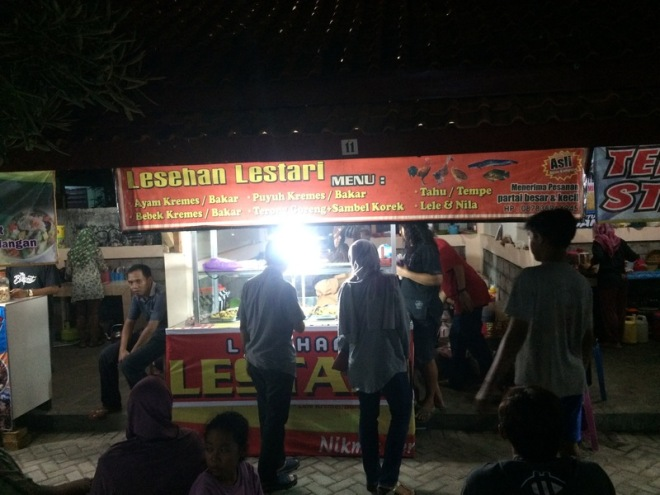 Taman Kuliner Wonosari Gunungkidul: Lesehan Lestari