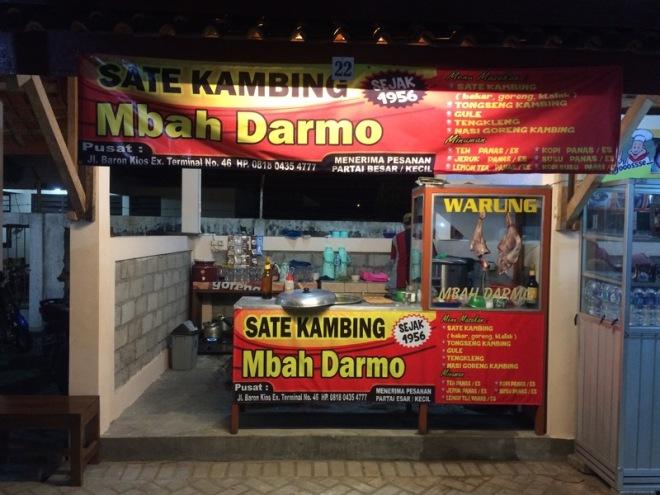 Taman Kuliner Wonosari Gunungkidul: Sate Kambing Mbah Darmo