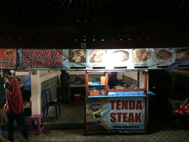 Taman Kuliner Wonosari Gunungkidul: Tenda Steak