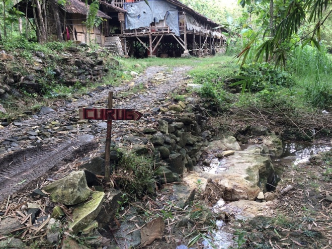 Panah Ke Arah Curug Bangunsari