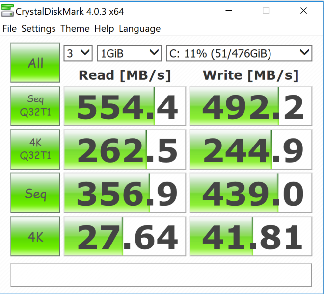 Crystal Diskmark Benchmark Result