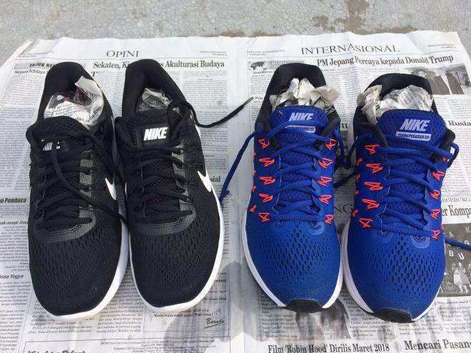 Mencuci Nike Zoom Pegasus 33 dan Nike Lunarglide 8