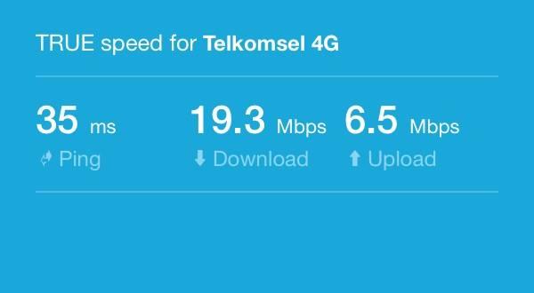 Kecepatan Koneksi Telkomsel 4G di Wonosari (Test dilakukan tanggal 5 Januari 2017)