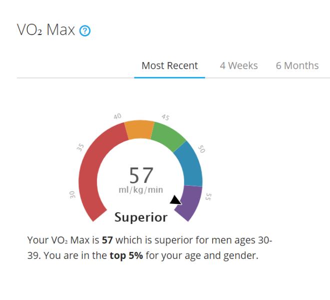 VO2 max prediction