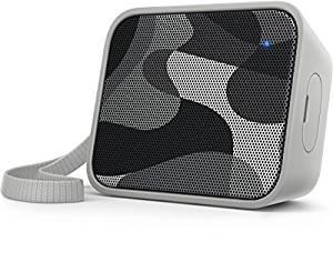 Philips BT110 PixelPop Portable Speaker (Bluetooth, Splash-Proof, Rechargeable Battery) - Camouflage