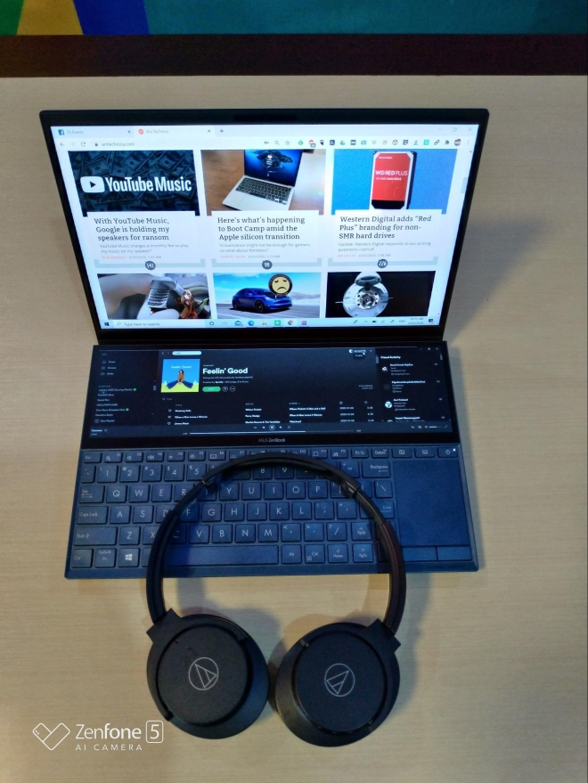 Jarwadi Zenbook UX480FL Audio Technica ATH-ANC500BT